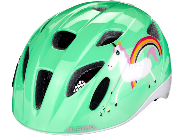 Alpina Ximo Flash Helmet Barn mint unicorn